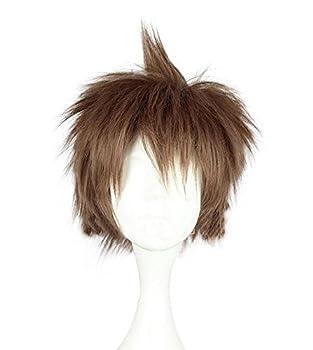 Mtxc Danganronpa  Trigger Happy Havoc Cosplay Hajime Hinata Wig Light Brown