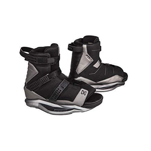 Ronix Wakeboard Bindings Anthem Boot - Black/Black Chrome - 5-8.5