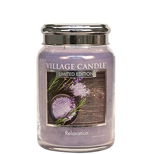 Village Candle Limited Edition Relaxation 26oz Large Glass Jar Scented Candle