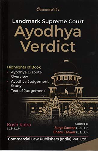 Commercial's Landmark Supreme Court AYODHYA VERDICT Ayodhya Dispute Overview, Ayodhya Judgement Study, Text of Judgement