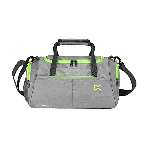 JWIL Sports Duffels Travel Weekender Bag With Shoe Compartment Lightweight Sport Gym Bag Sports Yoga Bag for Yoga Swim (Color : Gray)