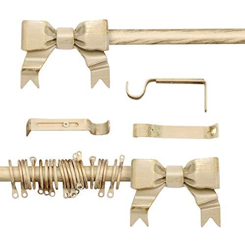 AT17 Bastone per Tende Estensibile Shabby Chic Gold Cadeaux Collection 160-300 cm