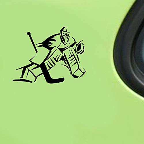 Wetterfeste Aufkleber Auto 18,9 cm x 14,6 cm Torwart Eishockeyspieler Auto Aufkleber Aufkleber Auto Aufkleber