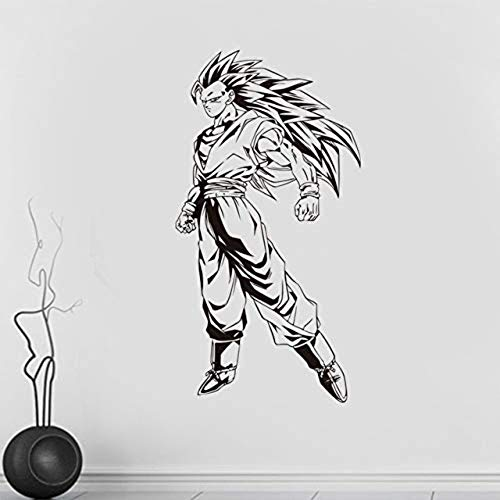 Muursticker, Nieuwe Cartoon Dragon Ball Super Saiyan Vinyl Decal s Decoratief Patroon Home Decor Jongens Kamers Art Fotobehang Papier [Grootte: 43x82 cm]