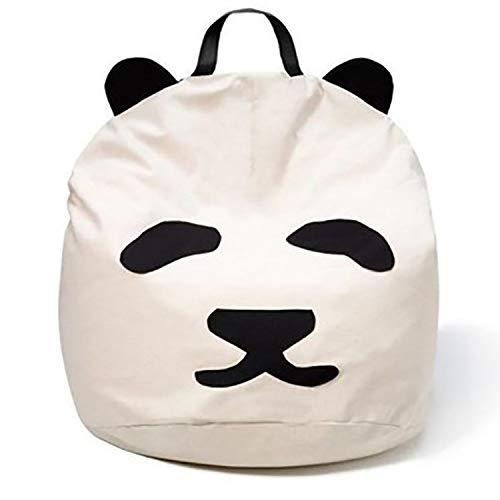 JYB Panda Extra Sitzkissen,Große Beanbag Gefüllt Weich Premium Canvas Stuhlpads Für Kinder Und Erwachsene A 60 * 60cm