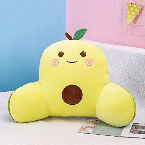 HHKX100822 Creative Fruit Waist Cushion, Strawberry Watermelon Cushion Nap Pillow, Office Waist Sofa Cushion 45 Cm High And 70 Cm Long Avocado
