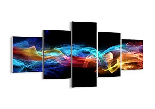Quadro su Vetro - Cinque 5 Tele - Larghezza: 125cm, Altezza: 70cm - Numero dell'immagine 2171 - Pronto da Appendere - Elementi Multipli - Arte Digitale - Moderno - Quadro in Vetro - GEA125x70-2171