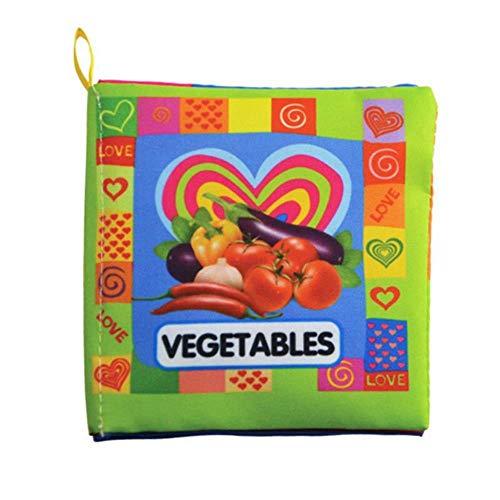 Fat Mashroom 11 Style Aktivitätsbuch Englischsprachige Stoffe Stoff Babybücher Lernen Bildung Babyspielzeug 0~12 Monate Juguetes Bebe, Gemüse
