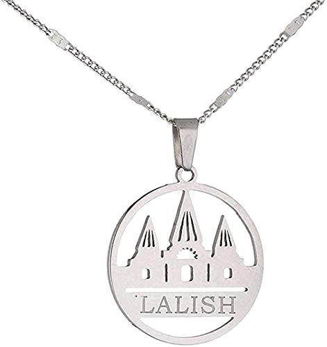 ZHIFUBA Co.,Ltd Collar de Acero Inoxidable Lalish Collares Pendientes Yezidi Faith Pilgrimage Charm Jewelry