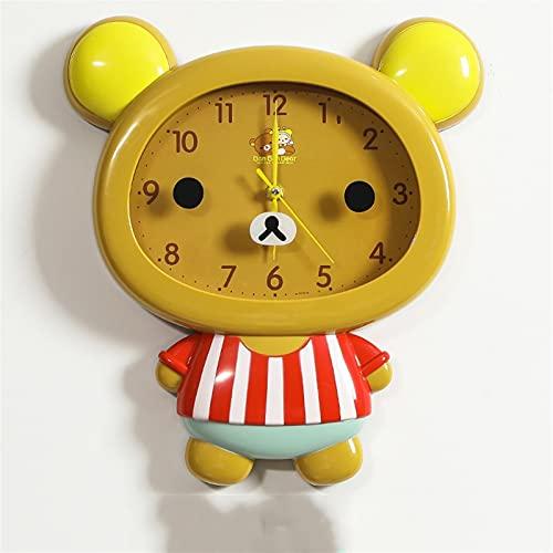Sggainy Silent Non Ticking Batería Operada Fácil de Leer Reloj Reloj de Alarma Simple Moda Retro Reloj de Pared Creativo Arabe Número Indoor Decoración Café Sala de Estar Dormitorio Hogar Oficina
