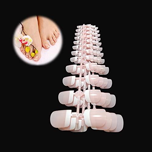 24X5 Uñas Falsas Postizas Tips DIY Manicura Uñas Francesas Nail Art