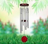 Bosdontek Carillon à Vent Avec Son Apaisant Et Relaxant, 6 Tubes en Aluminium Carillon à vent Carillons de Vent Pour Extérieur Pour Maison, Jardin, Cour, Balcon, Décoration Intérieure