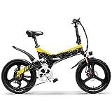 LANKELEISI G650 Bicicleta eléctrica Plegable de 20 Pulgadas 400W 48V 10.4Ah Batería de ión de Litio 5 Nivel Pedal Assist...