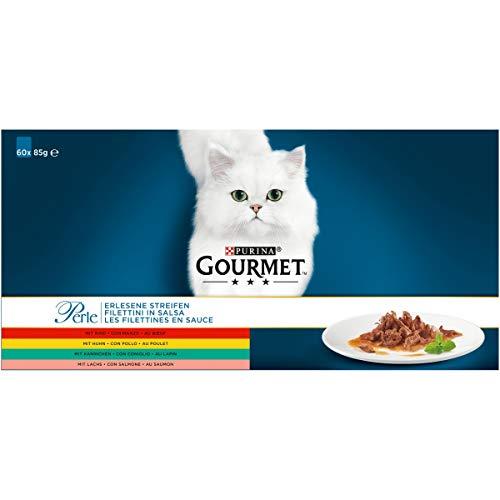 Gourmet Perle Kattennatvoeding 60 x 85g (60 portiezakjes; 5,1kg)