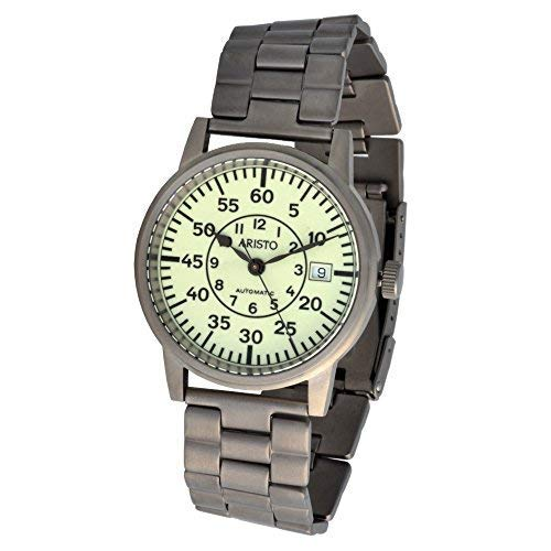 Aristo Unisex Uhr Armbanduhr U-Boot Uhr Automatik Titan 5H92TIB