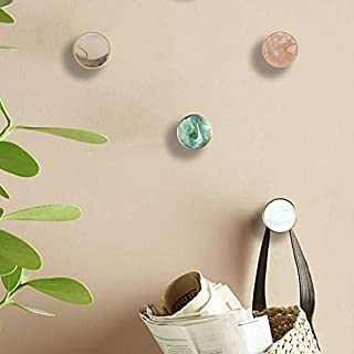 Pack of 4, Gold Brass Decorative Wall Hooks Towel Hook, Coat Hook Hangers Wall Mounted (Light Colour)