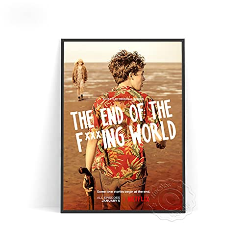 lubenwei Vintage Poster The End of the Fing World Prints Canvas Painting Wall Art Decor for Bedroom Decoration Wall stickers (AU-1266) 50x70cm No frame