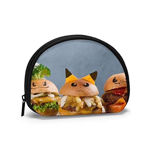 Oxford Cloth Funny Burger Coin Purse Small Zipper Wallet Bag Change Pouch Mini Cosmetic Makeup Bags Organizer Multipurpose Pouches