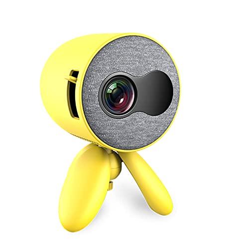 OKMJ Mini proyector portátil, proyector de Video LCD para niños presentes, Cine en casa, Juego, Entretenimiento al Aire Libre con HDMI USB AV Micro SD Entrada y Contro Remoto