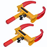 Ketofa Wheel Lock Clamp Boot Tire Claw, Tire Clamp Wheel Lock-Anti Theft Wheel Chock Lock Car Trailer Wheel-Security Travel Locking Claw Auto- Camper Car Van Truck for SUV fits(2 Pcs)