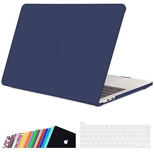 iNeseon Funda 2020 MacBook Pro 13 Pulgadas con Touch Bar A2338(M1)/ A2251/ A2289, Ultra Delgado Carcasa Protector Case Cover y Cubierta de Teclado, Azul Marino