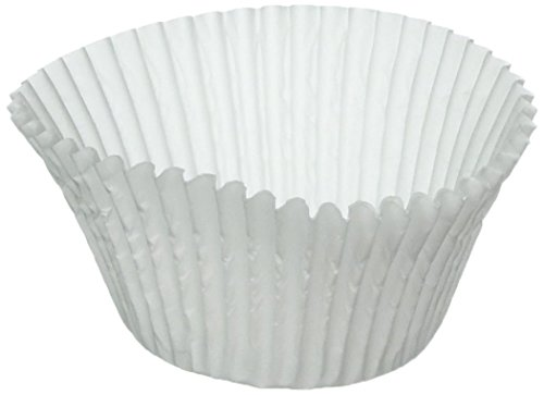 100 White Large Jumbo Texas Muffin  Cupcake Cups White flutted Cupcake Liners Baking Cups
