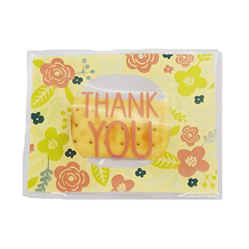 SCHOLMART Thank You Self Adhesive Cellophane Bag, Treat Bag, Cookie Bags, Party Favor, Bakery, Candy, Bakery, Candies, Dessert (Thank You 100 Count)