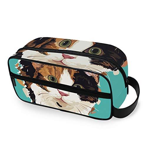 Voyage Mignon de Bande Dessinée Calico Cat Portable Poches Trousse De Toilette Outils De Stockage Cosmétique Train Case Maquillage Sac
