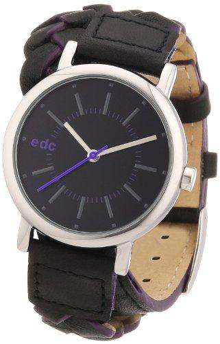 edc by Esprit Damen-Armbanduhr XS Boho chic Analog Quarz Leder A.EE101012002