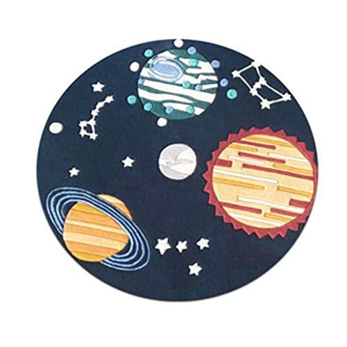 LC2019 Teppich, Wollteppich, rund, für Kinderzimmer, Teppiche, Schlagzeug, Musikinstrument, Wolle, blau, 100 cm