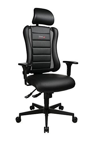 Topstar Sitness RS Büro-/Gaming-/Schreibtisch- Stuhl, inkl. Armlehnen und Kopfstütze,schwarz, 60 x 68 x 139 cm