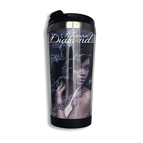 vfrtg Rihanna 4 taza de café de acero inoxidable ecológica personalizada Ization
