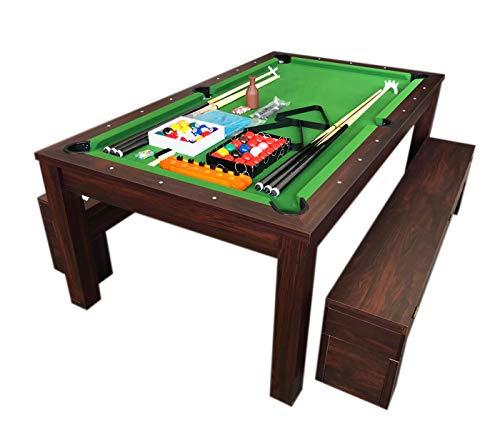 grafica ma.ro srl Billardtisch Billard 7 FT Billard-Spiel mit Tischplatte und Containerbänke Neue