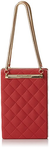 Love Moschino Borsa Quilted Nappa Pu Rosso, Sacs baguette femme, Rouge (Red), 5x15x10 cm (B x H T)