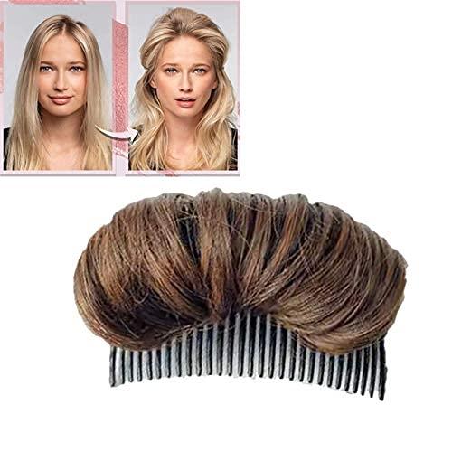 Almohadilla invisible para el pelo esponjoso – Clip de pelo falsa esponjosa princesa peinado horquilla pelo pelo esponjoso peineta sintético