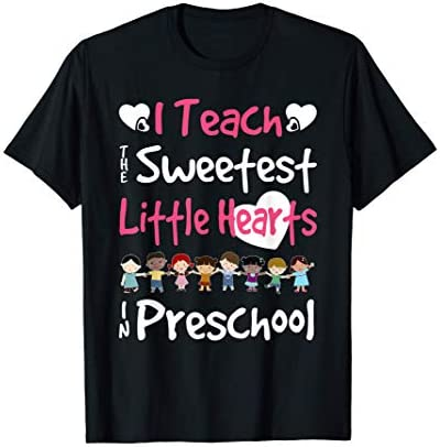 Valentines Day Preschool Teacher For Teachers in Love Gift T Shirt product image