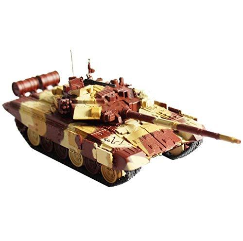 JHSHENGSHI Modelo de Metal de Tanque 1/72, Tanque de Batalla Principal T-90S, Tanque Ruso, Juguetes y Regalos Militares, 5.9 Pulgadas x 2 Pulgadas