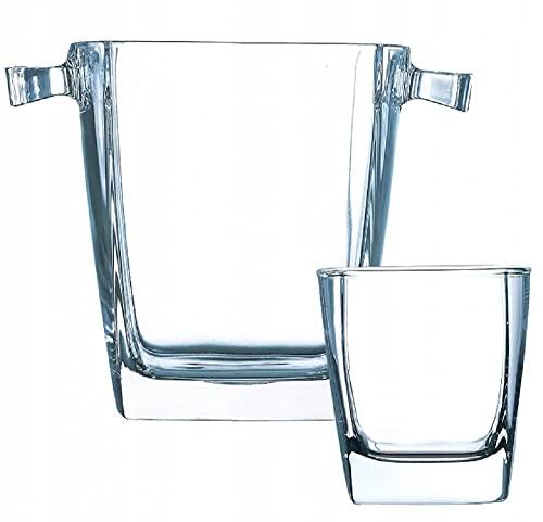 Sterling - Cubitera con vasos bajos (300 ml, 1,4 L), transparente
