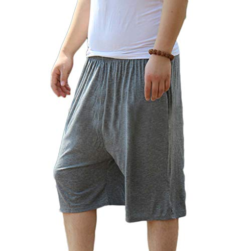 Pantalón Corto De Pijama para Hombre Shorts Ropa De Dormir Cintura Elástica Tiempo Libre Talla Grande