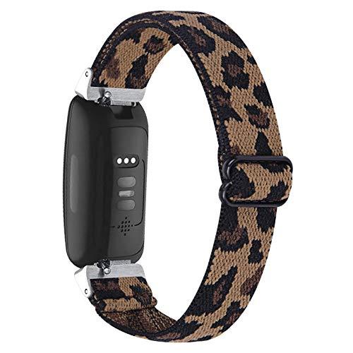 TriStraps Kompatibel mit Inspire HR/Inspire 2 Nylon Elastizität Weich Uhrenarmband,Dehnbar Elastizität Ersatzband,mit Männer und Frauen