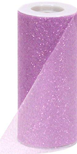 Berwick Offray Lavender Sparkle Tulle by the Bolt, 6'' W, 25 Yards