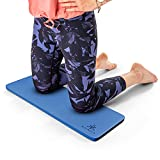 Yoga Knee Pad Cushion Dark Blue - Yoga Accessories for Women and Men - Thick Knee Mat for Floor Exercise, Workout, Kneeling Pain - Home, Gym, Travel, Gardening, Cleaning - Kneel Mat