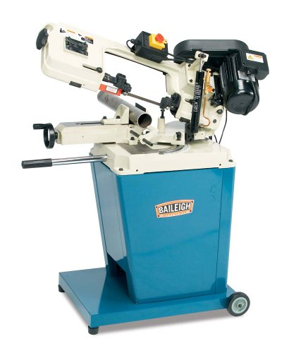 Baileigh BS-128M Pneumatic/Manual Portable Metal Cutting Band Saw, 0.75hp Motor, 110V