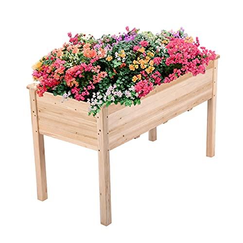 Yaheetech Raised Garden Bed Fir Wood Elevated Planter Box Rectangle...