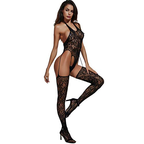 Sexy Lingerie Sexy Costumes Sex Products Black One-Piece Fishnet Body Stockings Netting Underwear Siamese Stockings Mesh