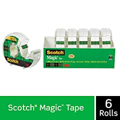 The original matte-finish, invisible tape Frosty on the roll, but invisible on the job Preferred by millions Dispenser included:  refills easily, stores away conveniently, always ready Comes off the roll smoothly, cuts easily For permanent paper mend...
