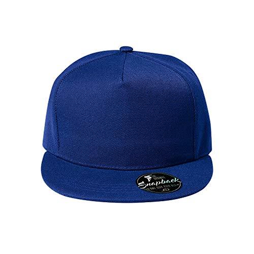 OwnDesigner - Snapback, Cap, Mütze, Kappe Unisex Baseball Cap in verschiedenen Farben, für Erwachsene und Kinder, A4-blau, Einheitsgröße
