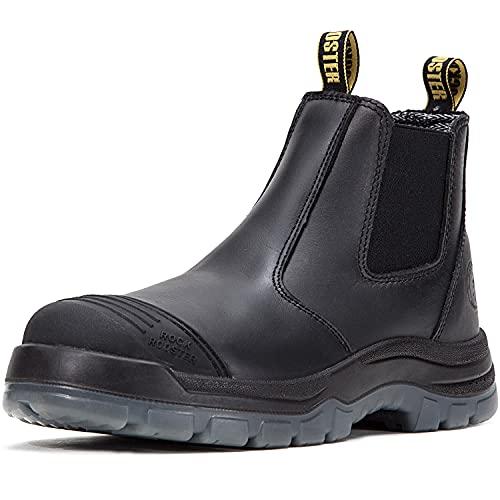 ROCKROOSTER Work Boots for Men, 6 inch Steel Toe,...