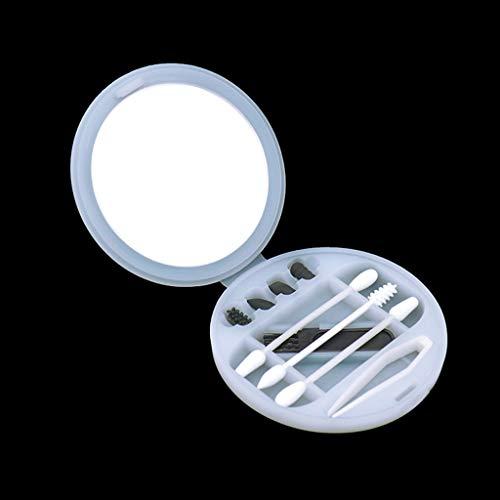 CNTL-COVER Coton De Silicone Portable Tamponne des Bourgeons De Coton Lavables À Double Tête, Coton-Tige Réutilisable avec Étui De Rangement,Blanc