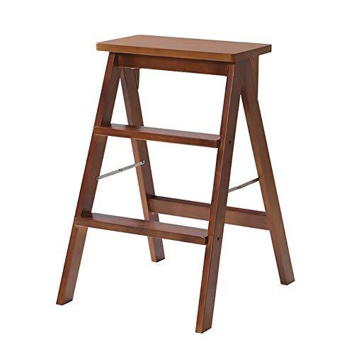 ZfgG 3 trapkrukken van massief hout, modern, draagbaar, inklapbaar voor krukken, multifunctioneel, hoge zitbank